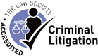 The Law Society Criminal Litigation Accredited logo
